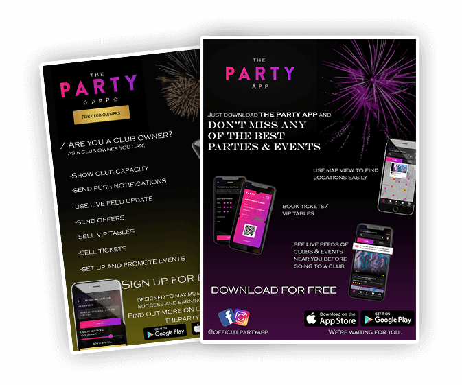 Party App Flyer Presentation