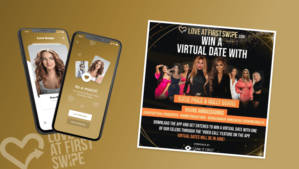 Love at first swipe Virtual Date