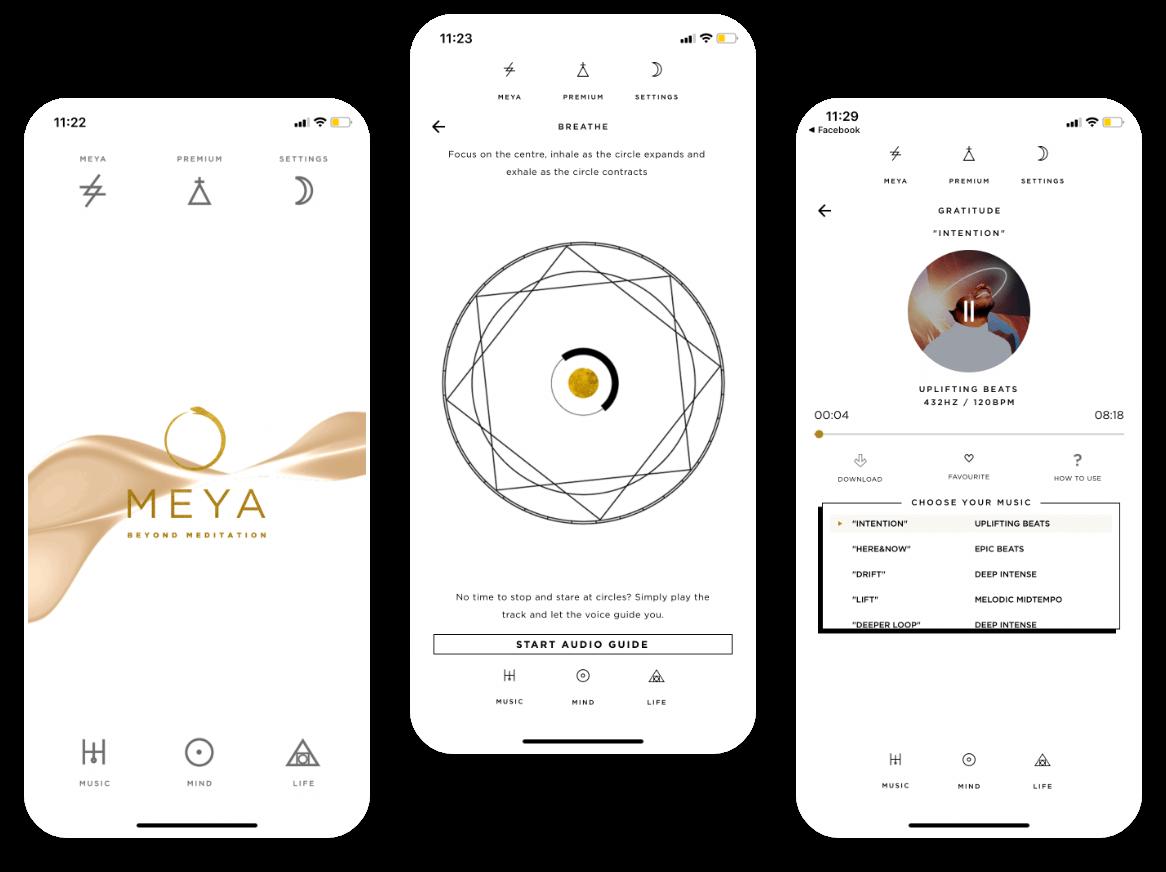 Meya Mobile App Beyond Meditation