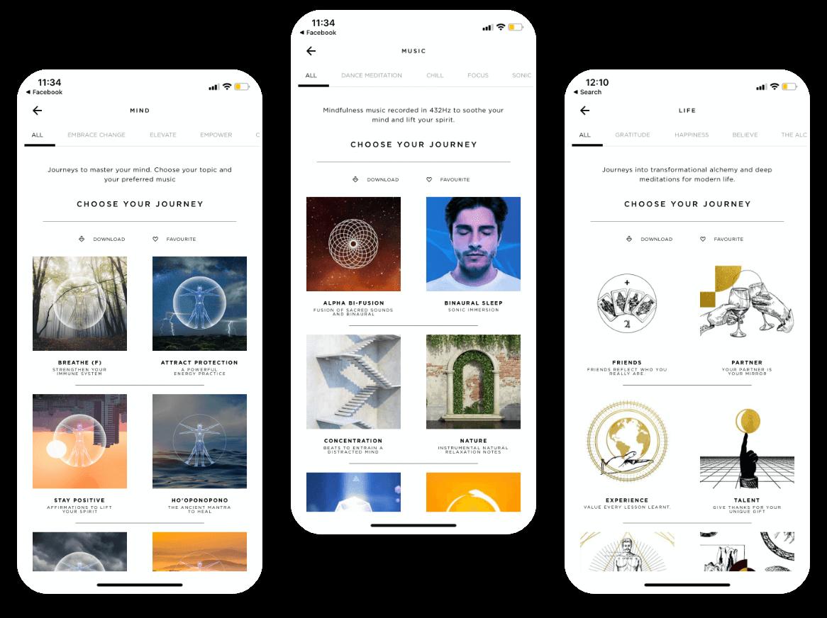 Meya Mobile app Journey