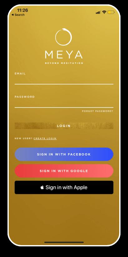 Meya Mobile app Login