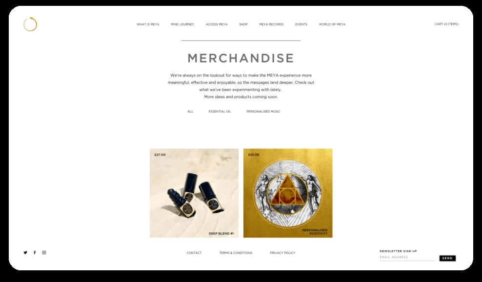 Meya Website Merchandise