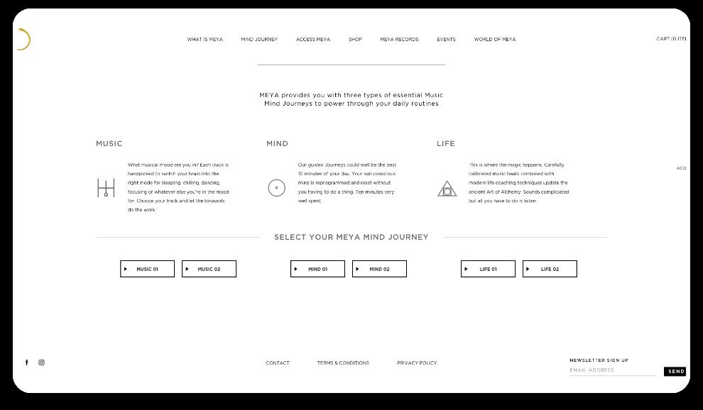 Meya Website Mind Journey
