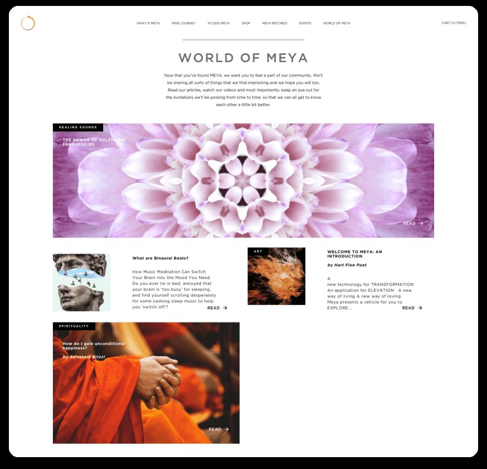Meya Website World of Meya