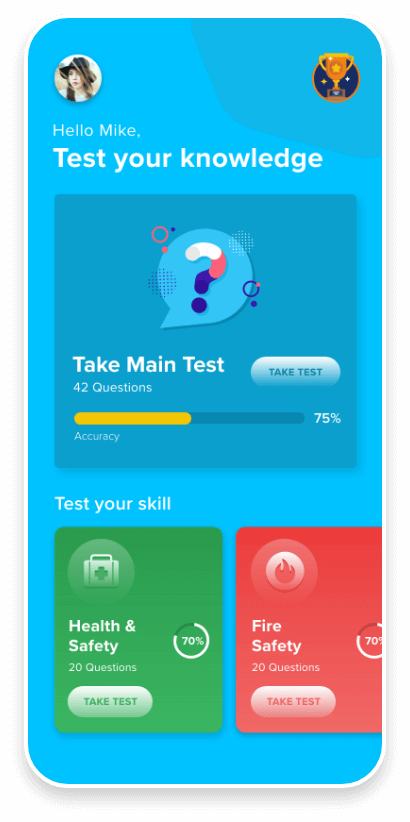 WIK Mobile app Dashboard