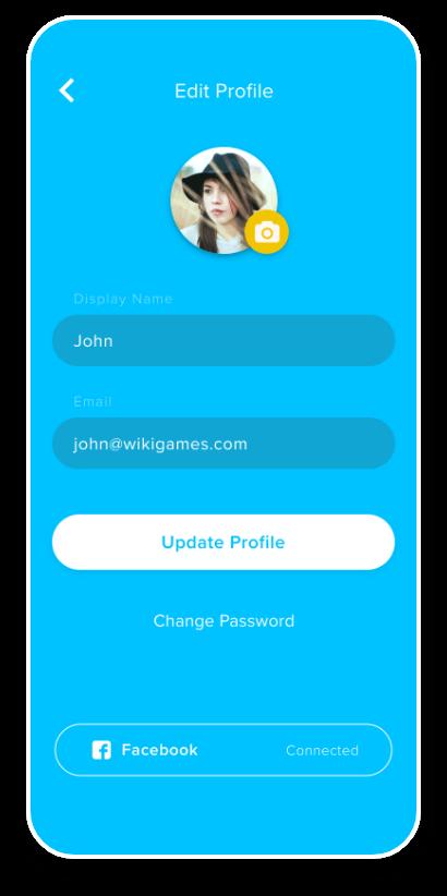 WIK Mobile app Edit Profile