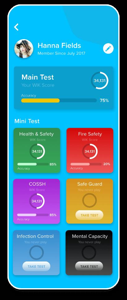WIK Mobile app Test Progress