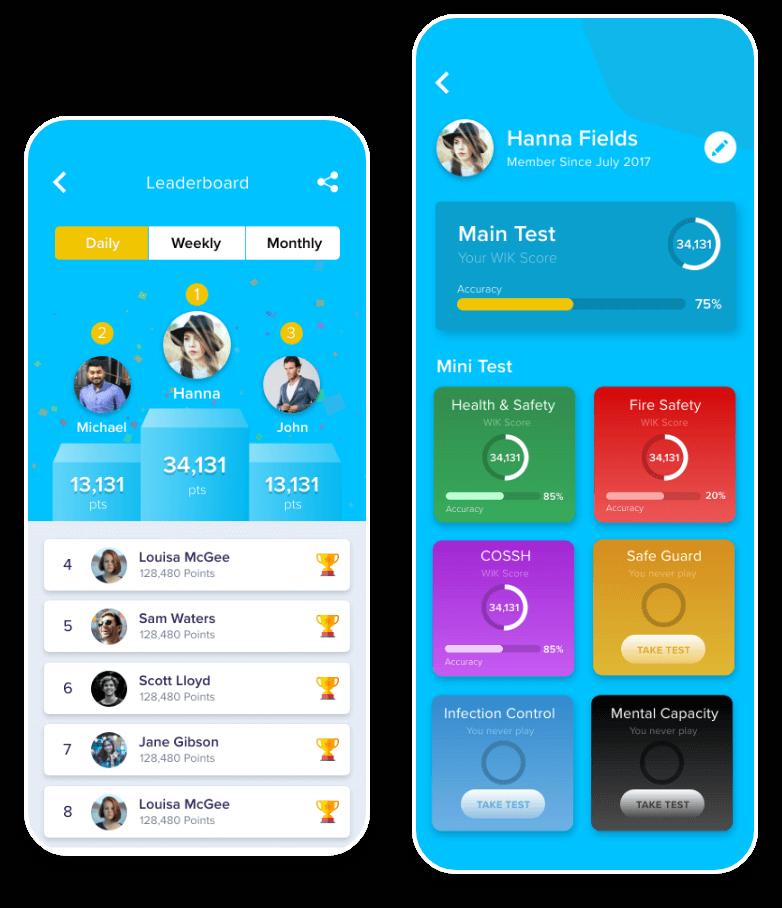 WIK Mobile app Track Progress