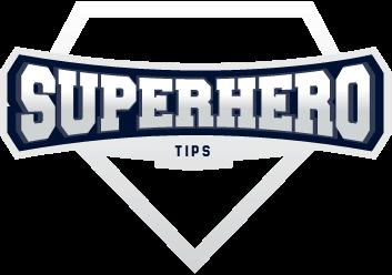 Superhero Tips Light Logo